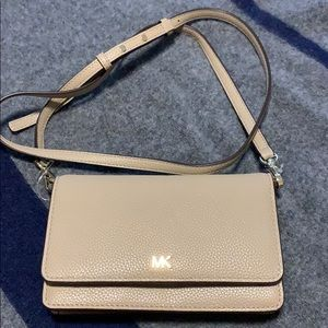 Michael Kors truffle leather xbody bag in pebbled